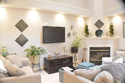 living room wood fire place