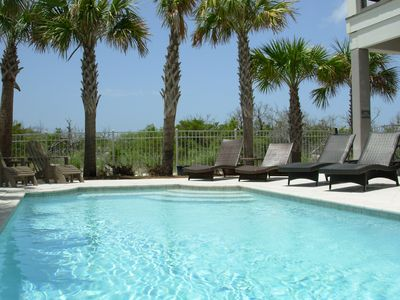 All rental homes at  CottageRents have private headed pools, a bar and Grill