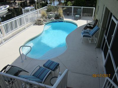 Photo for Single Family -  Private Pool, Canal, Screen Porch. Gulfside - Winter Specials!