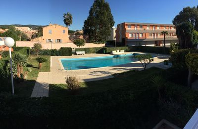Photo for Superb T2 with terrace in residence with swimming pool, private parking, wifi
