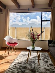Photo for Cozy apartment in a gorgeous location and amazing view of the mountains.