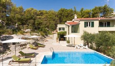 Photo for Villa Stina with Pool and Breathtaking View of Biokovo Mountain in Croatia
