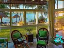 Seascape's main beach view is almost 280 degrees, with floor to ceiling windows