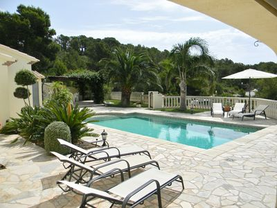 Photo for Beautiful and very quiet villa with private pool and sea-mountain view