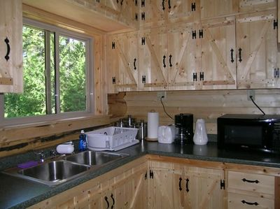 Kitchen with hand-crafted cabinets