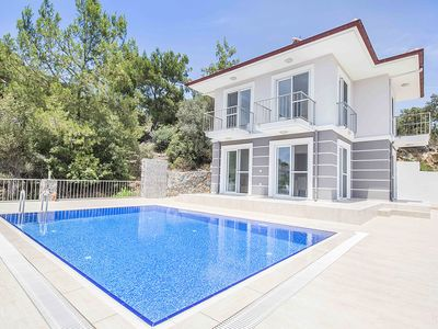 Photo for Family friendly villa with a pool and large terrace areas.