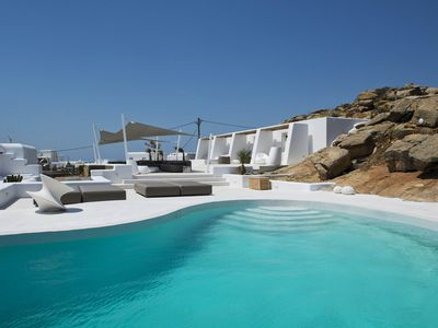 Photo for Suite Ruby, in Tourlos area, in Mykonos, with shared pool, sea view, 4 sleeps