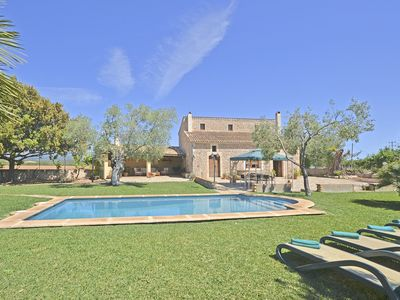 Photo for CARRATXET - Big swimming pool and garden in Buger
