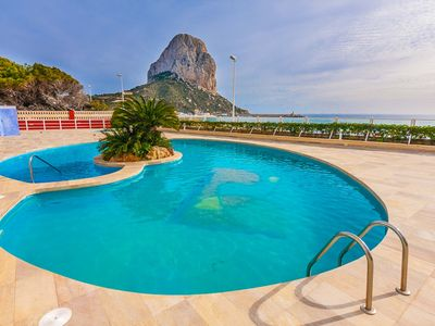 Photo for RUBINO, Rubino apartment on the first line of the Arenal beach in Calp free wifi