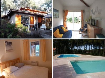 Photo for Semi detached house 4 people, residence with pool, Lacanau Ocean
