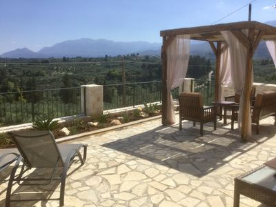 Photo for Large private apartment in a traditional Greek village with stunning views.