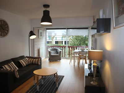 Photo for Apartment st Jean de luz in secure residence with parking and pool