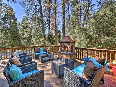Photo for Rustic Crestline Home w/Deck -Walk to Lake Gregory