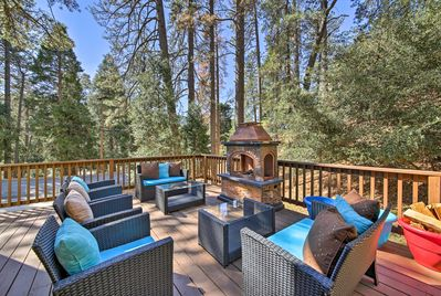 Your Crestline getaway begins at this vacation rental house by Lake Gregory!