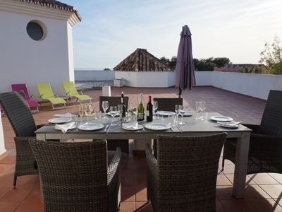 Photo for Luxury Penthouse 100m from beach with huge private terrace and  with sea view