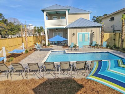 Photo for Brand New Luxury Beach Home, Private Pool, Free Golf Cart! 3 Minutes to Beach!