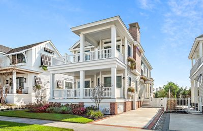 Photo for 2nd home from the beach gorgeous Stone Harbor property!  Custom designed home built in 2017 that features ocean views from the 1st floor decks