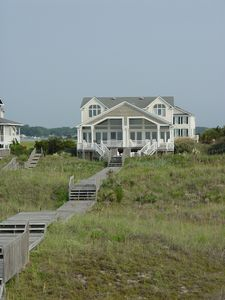Photo for Luxury oceanfront beach home in gated community Holden Beach