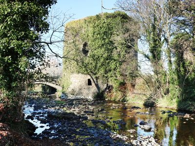 The old castle and bridge at Glin