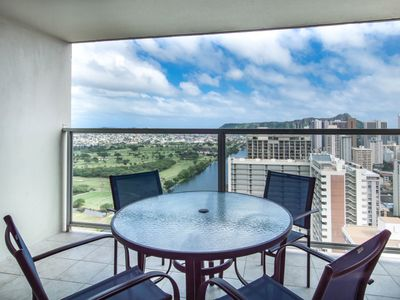 Photo for NEW LISTING! Studio high rise w/ ocean & Diamond Head views, shared pool/hot tub