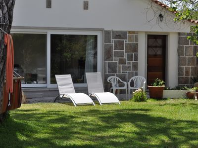 Photo for Charming cottage, 3km from the beach, 5min walk to the supermarket, cafe, bakery