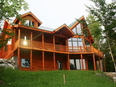 Photo for Family Friendly Vacation Log Home Nestled In Powder Ridge.  5 Minute Ride To Ski