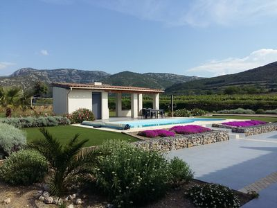 Photo for High class villa in the heart of the Corbières w/heated pool