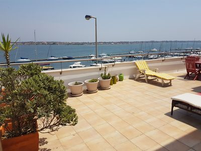 Photo for 3 bedroom duplex apartment with pool and garage 100 meters from the beach