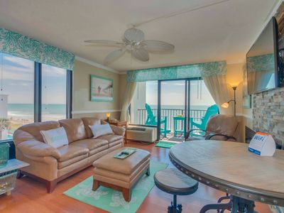 "Photo for HUGE DIRECT CORNER OCEANFRONT CONDO/KING/55""TV/WASHER/DRYER/SLEEPS6/WE LOVE PETS"