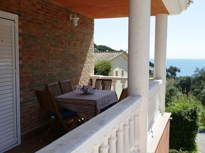 Photo for Beautiful villa on the beach of Sta. Maria de Llorell, with great sea views