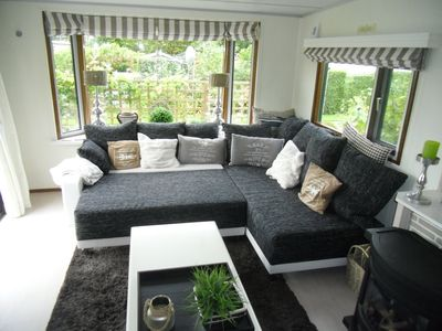 Photo for Quiet exclusive chalet in Beautypark de Stern in Zeeland for rent