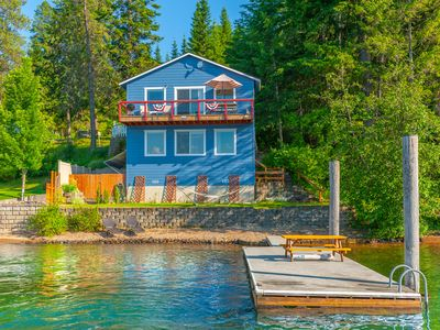 Photo for Beautiful Cabin steps away from Lake Coeur d'  Alene
