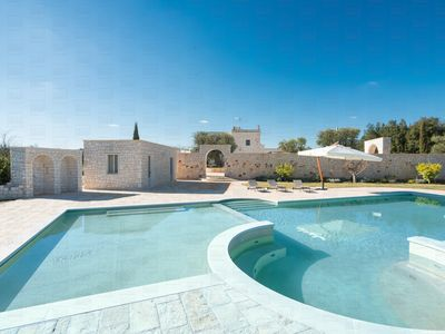 Photo for A beautiful stone farmhouse with private pool