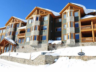 Photo for Ski-To/Ski-From Condo with a Private BBQ and a PRIVATE HOT TUB