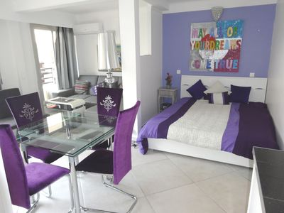Very spacious lounge with a separate sleeping area with a king size bed