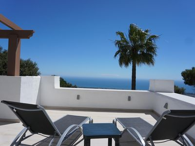 Photo for Unobstructed and breathtaking sea view apartment on the heights of Marbella