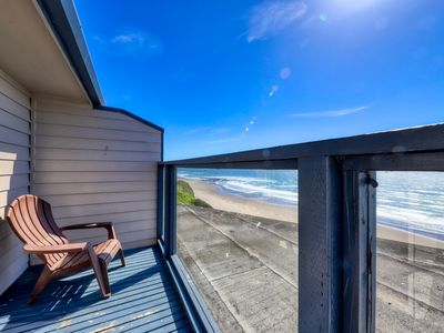 Photo for Enjoy ocean views, direct beach access, a fireplace & shared pool/hot tub!