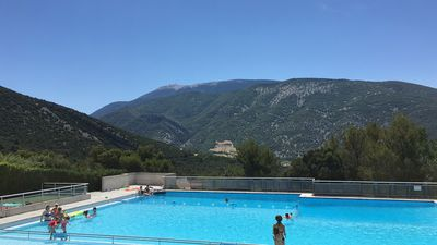 Photo for Country house, swimming pool with stunning views of the Mont Ventoux