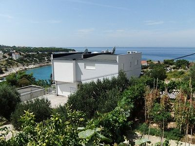 Photo for New, modern apartment with great sea view terrace, BBQ, only 150m from the beach