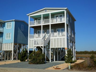 Photo for Belle Moor - Come enjoy georgeous marsh views, rocking chair porches and outdoor dining!