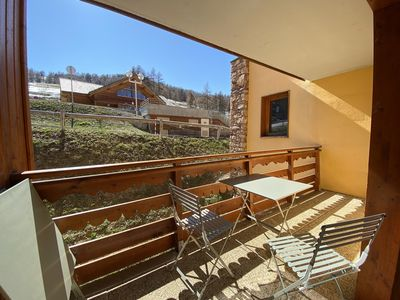 Photo for Nice T4 in Risoul near the slopes in residence with swimming pool / spa