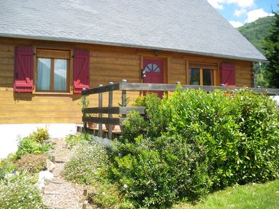 Photo for At the foot of the Hautacam, wooden cottage for rent