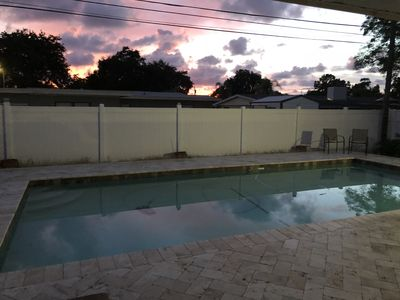 Photo for 3 bedroom, 3 bath ranch style home with large pool - close to beautiful beaches