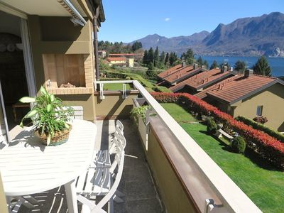 Photo for Selva 1 apartment in Ghiffa with pool and lake view