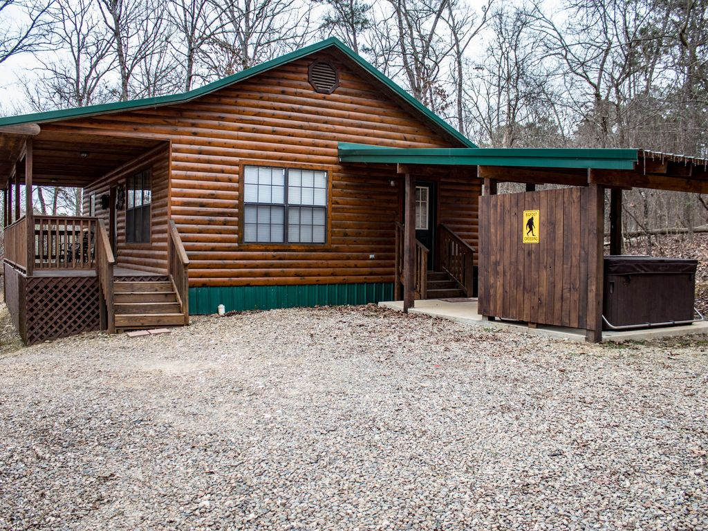 mountain broken cabins rentals upscale spectacular bow cabin oklahoma lake views sunset