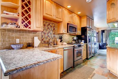 Cook up a storm in the spacious kitchen.