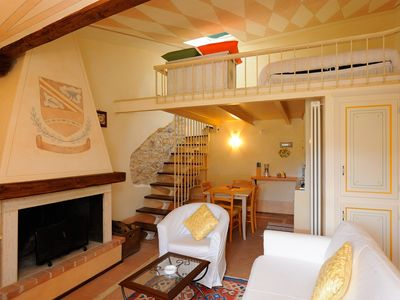 Photo for Cozy apartment-suite historic stone and beams, 'Casa de Trucchia'