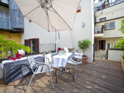 Photo for Delightful studio-FLAT with private terrace-Colosseum