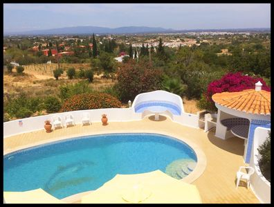 Swimming pool from roof terrace