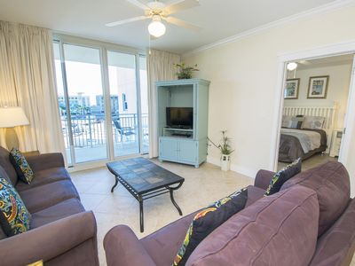 Photo for ☀Waterscape 433A-2BR-Sleeps8!☀Walk 2 Bch-Amazing Pools! OPEN May 19 to 21 $745!